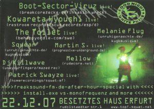 22.12.2007 Herzschrittmacher Pt. 2 @ Besetztes Haus / Erfurt (back)